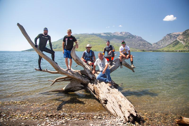 Damir & Tim Six Lake swim challenge