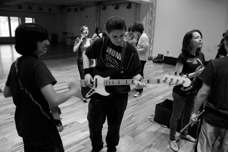 School Of Rock - Earl Slick rehearsal - David Live workshop