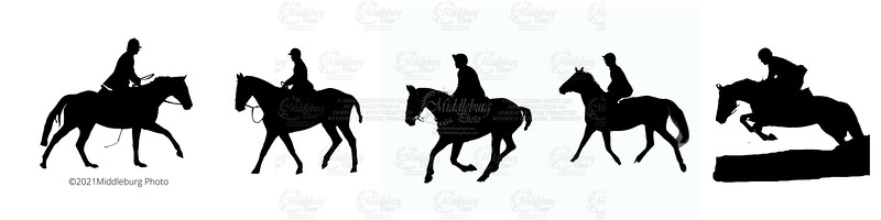 Hunt Country Silhouttes