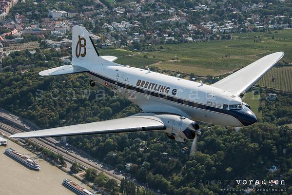 Breitling DC-3 über Wien