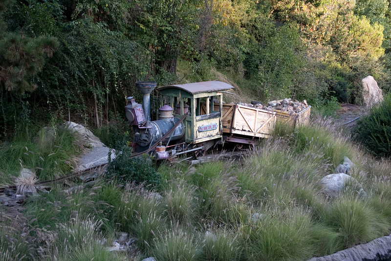 The old Mine Train itself is perched picturesquely along its old tracks in the same vicinity.