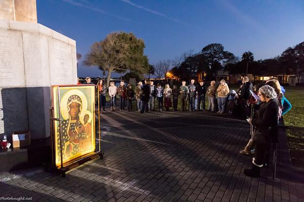 Friday Evening: Illuminated Rosary
