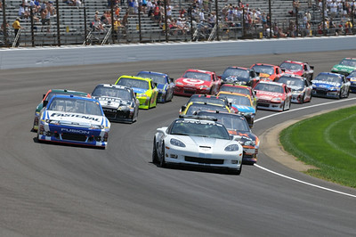 Brickyard 400 Race Action - 07-29-12