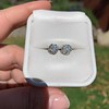 1.70ctw Old European Cut Diamond Clover Stud Earrings, GIA H-I SI 45