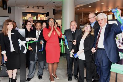 Mayor welcomes Starbucks to Hyatt Regency Rochester. 5/2/2017