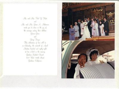 4-16-1988 Garry Nakamura & Janice Kato Wedding