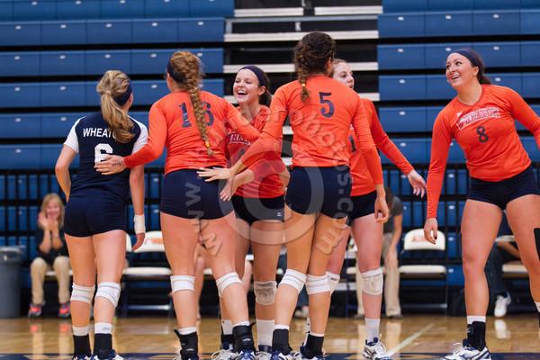 Wheaton College Volleyball vs Kalamazoo, September 28, 2013