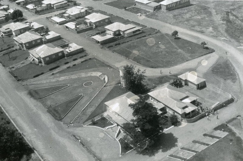 Unidade hospitalar - Vista Aérea -1975