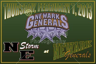 2013 NE Storm at Newark Generals (02-07-13)