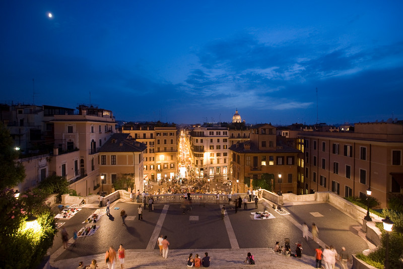 Spanish steps at dusk, Rome