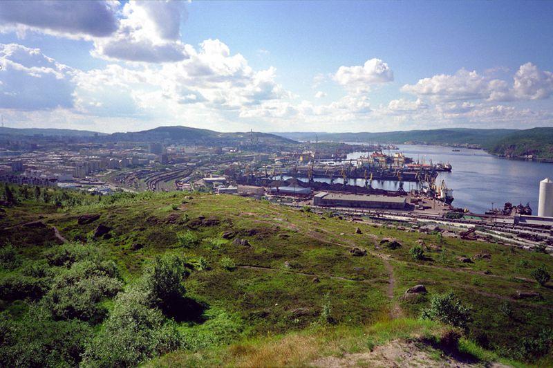 Uitzicht op Moermansk