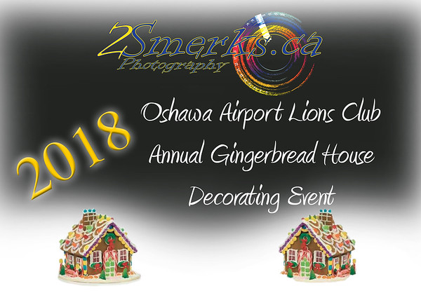 Oshawa Airport Lions Gingerbread House Decorating and Santa Pictures 2018