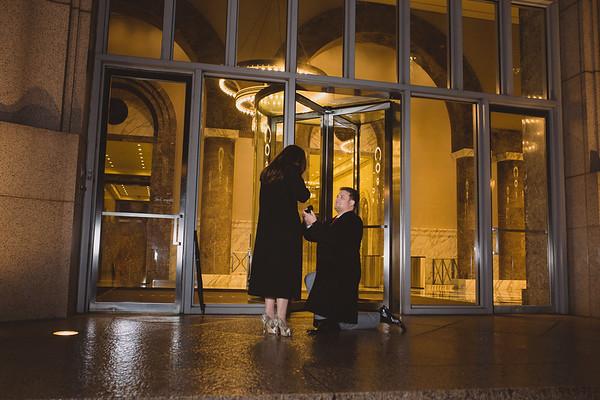 An Engagement Story In Downtown Atlanta:  Jordan & Will
