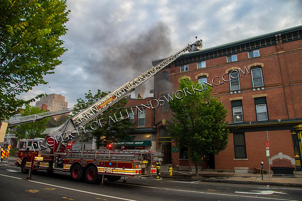 New Haven 2nd alarm 7-9 Elm St. residential over commercial