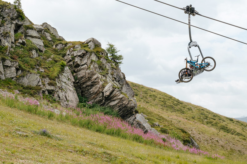 Cable car equipement in Les Ruinettes Verbier