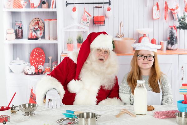 Santa Scott with Children