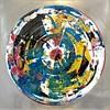 A-Iorillo, 24x24 dibond aluminum framed white