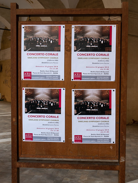 This too was out in front.  Nice enough ... but note the posters have no mention of the contents of tonight's concert.  Did that reduce the draw? _