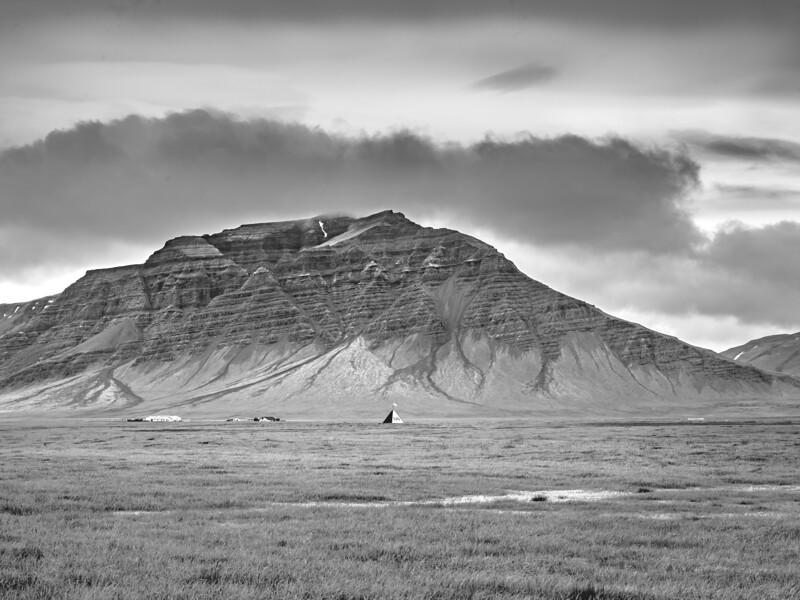 Major Peak Of Iceland  Black & White Photography by Wayne Heim