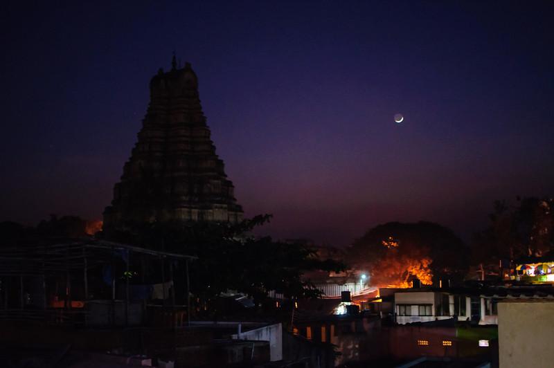 Virupaksha Temple in Hampi Town