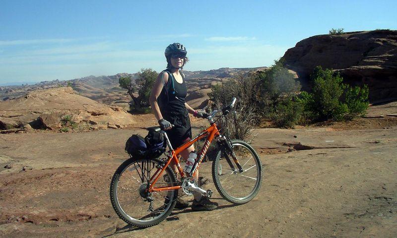 Me on the Slickrock bike trail.