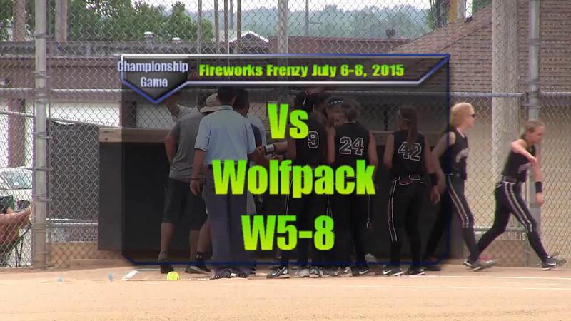 Fireworks Frenzy July 6-8, 2015 Eliminations Game 4 vs Wolfpack W5-8.wmv