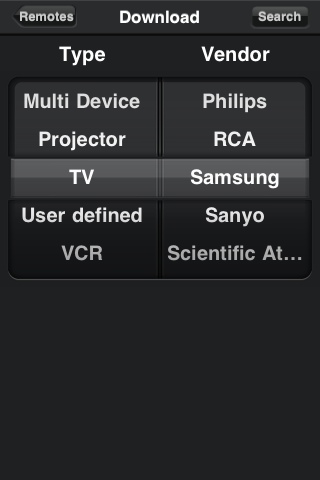 L5 Remote iPhone App for Universal Remote
