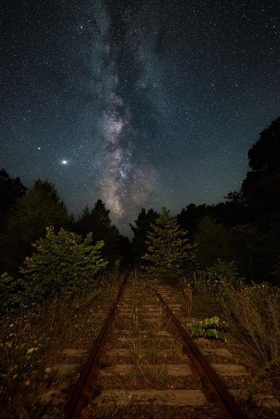 Tracks to the Milky Way (Pea Ridge, MO)