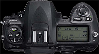 Nikon D200 - top LCD and controls