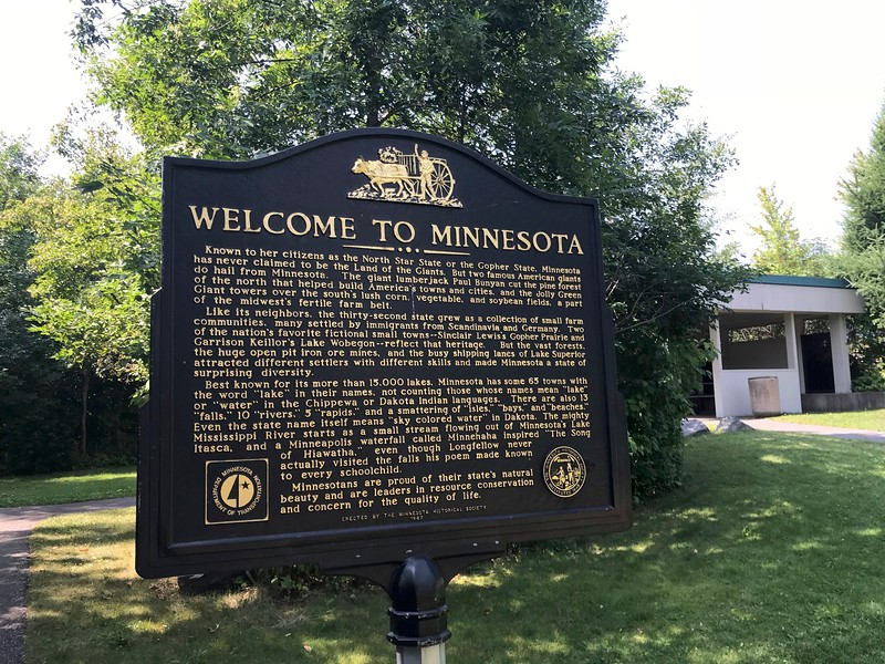 My day began in Minnesota although I was headed to Wisconsin.