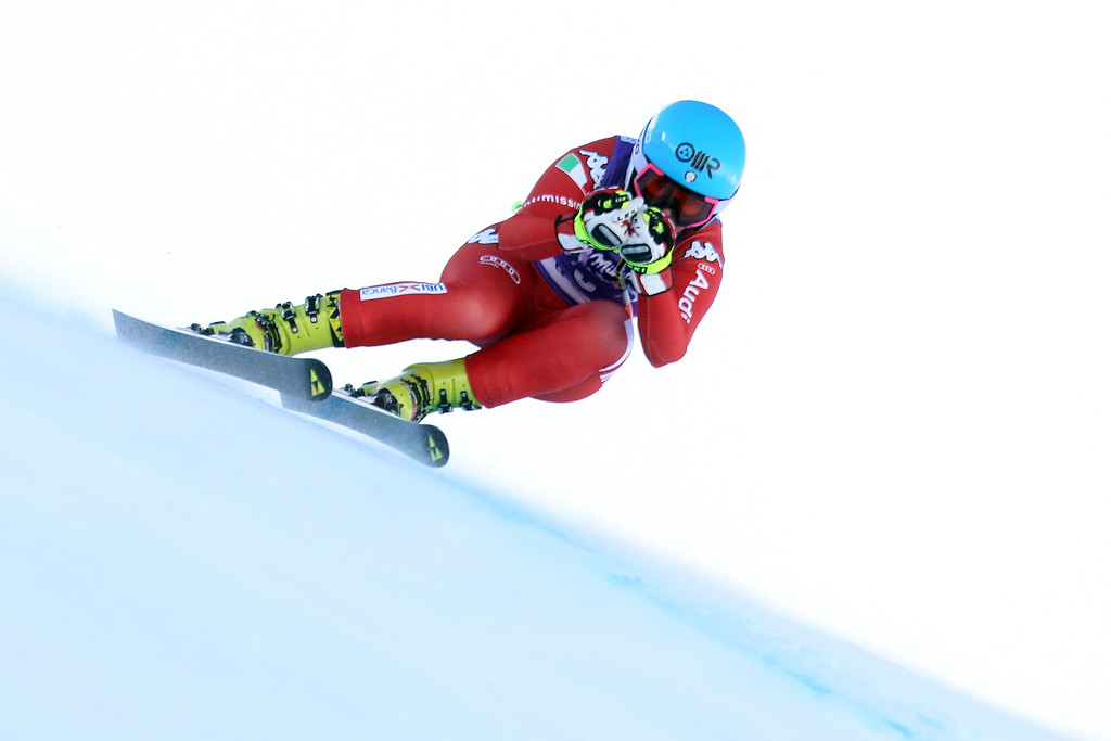 . Daniela Merighetti of Italy competes during the Audi FIS Alpine Ski World Cup Women\'s Downhill on December 20, 2014 in Val dâIsere, France. (Photo by Christophe Pallot/Agence Zoom/Getty Images)