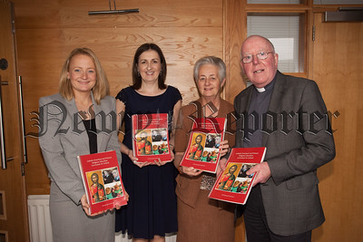 Pictured at the Launch of the Primary Education Religion Curriculum in the Dromore Diocese are, Anne Hession (Lecturer St Patrick's College Dublin), Helen Leacy (Dioceseian Advisor), Sr Mercedes Coen and Bishop McAreavey. R1538001