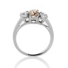 1.47ctw Fancy Brown Old Mine Cut and Old European Cut Diamond 3-Stone Ring 3