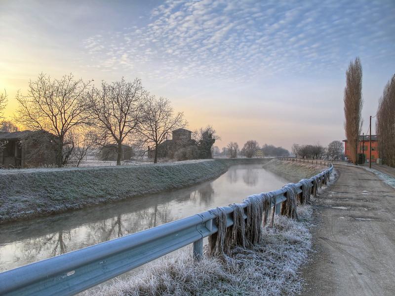 Canale Naviglio - Albareto, Modena, Italy - December 28, 2010