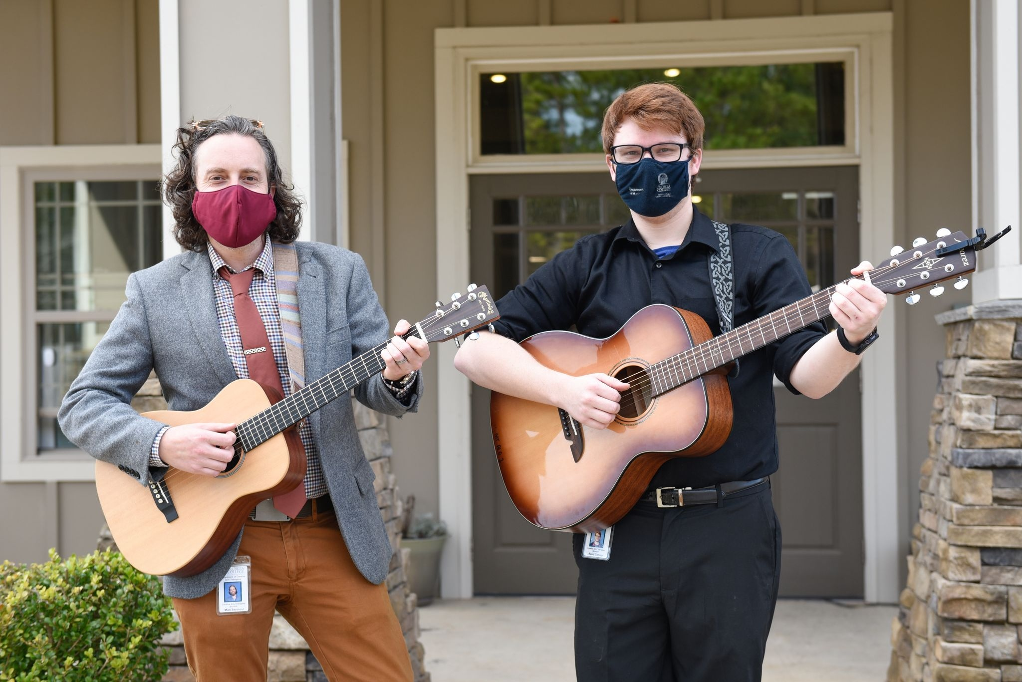 Image for Music in the air: Students serenade isolated memory care residents