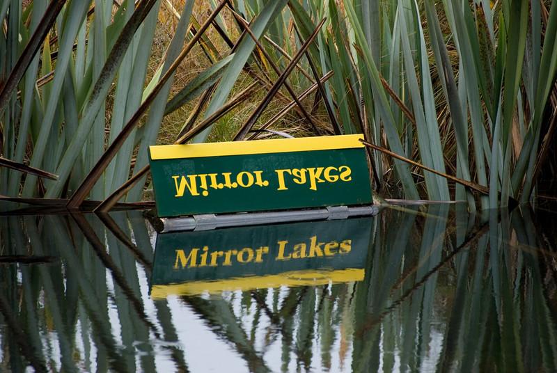 Mirrror Lake in Milford Sound, NZ