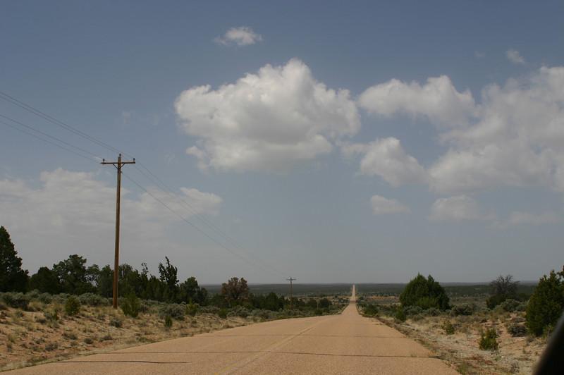 The 60 miles of road through the Havasupai Reservation crossed quite varied terrain.
