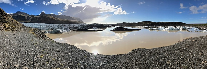 Svinafellsjokull - a lot of melting since my last visit 3 years ago