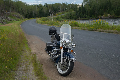 Motorcycle trip from the LAKE OF The WOODS to Grassy Narrows - HWY 671