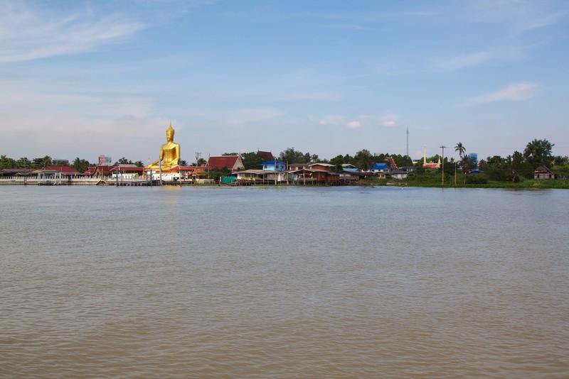 Giant buddha across the river from Ko Kret