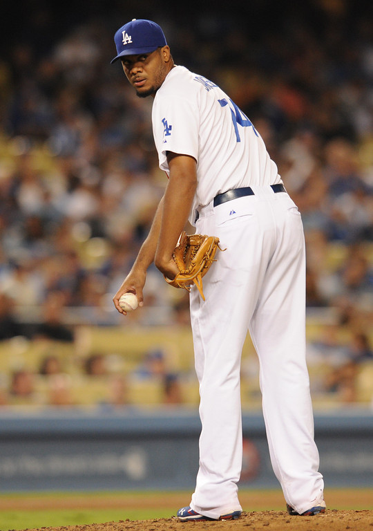 . <b>Kenley Jansen #74 | RP | Throws: R, Bats: B <br />GP: 75     GS: 0     QS: 0    W: 4     L: 3  </b> <b>SV: 28     HLD: 16     IP: 76.2    H: 48     ER: 16  </b> <b>HR: 6     BB: 18     S0: 111     WHIP: 0.86     ERA: 1.88</b> <br />(John McCoy/Los Angeles Daily News)