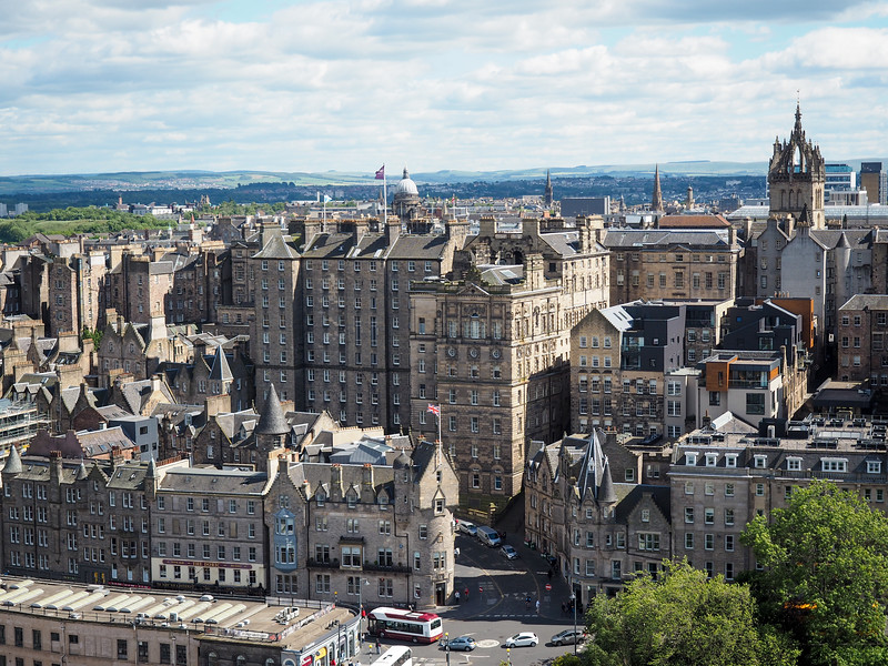 View from the Scott Monument in Edinburgh