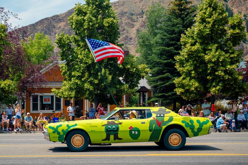 Funny car, Fourth of July parade, Hailey, Idaho