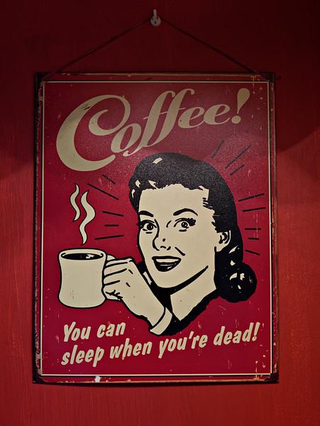 Mid morning coffee/tea spot