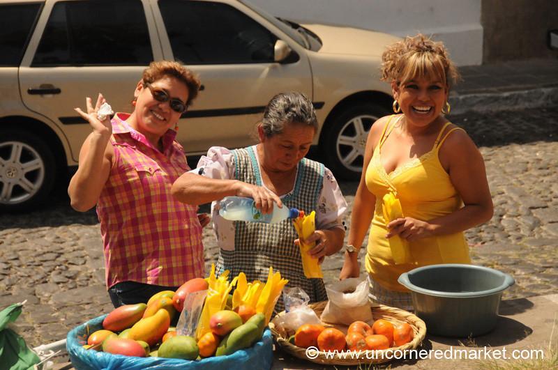 Buying Fresh Fruits - Antigua, Guatemala