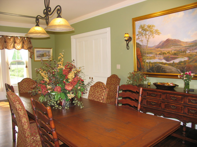 Conference Room on the main level. A panoramic painting of the Delaware Water Gap by Dan Mulligan fills the east wall.