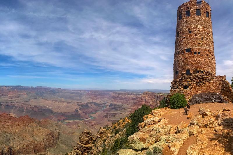 Grand Canyon NP -- South Rim Driving Tour (4-16-17)