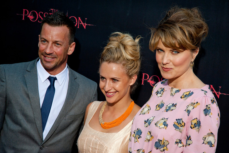 HOLLYWOOD, CA - AUGUST 28: Actors Craig Parker, guest and Lucy Lawless arrive arrive at the premiere of Lionsgate Films' 'The Possession' at ArcLight Cinemas on Tuesday, August 28, 2012 in Hollywood, California. (Photo by Tom Sorensen/Moovieboy Pictures)