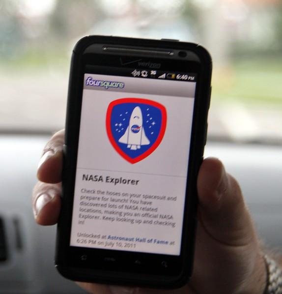 I unlocked the NASA Explorer Badge on Foursquare