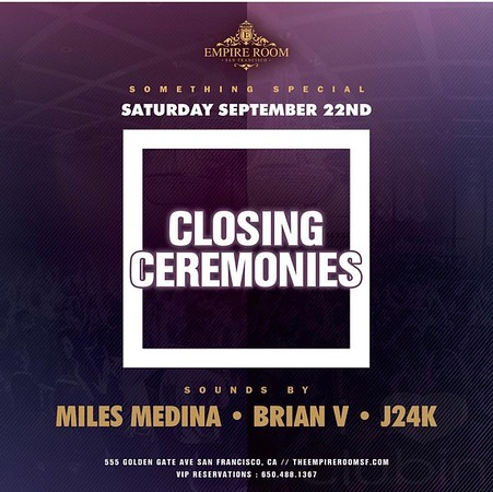 Closing Ceremonies @ Empire Room 9.22.18